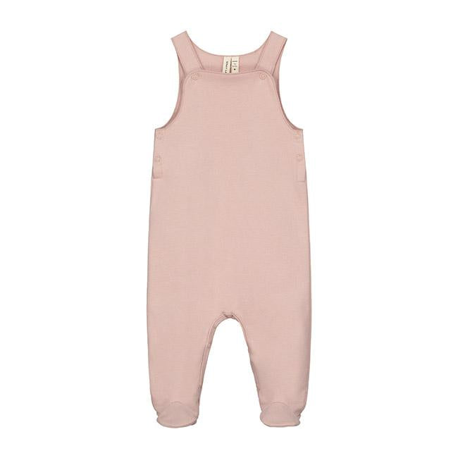 KiND sleeveless suit vintage pink with footies dungarees gray label sustainable brand