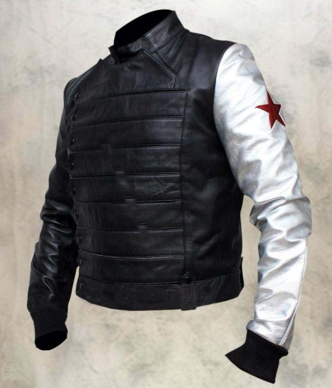 Custom Handmade Stylish Captain American 2 The Winter Soldier Bucky cosplay cost