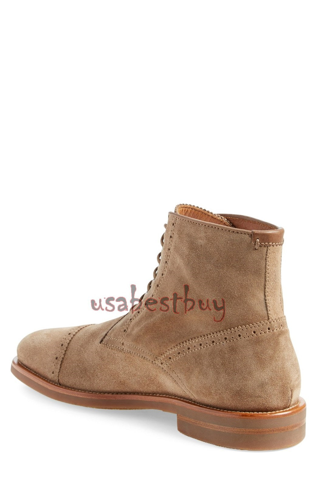 New Handmade Oxford Superb Style Brogue Suede Leather Boots, Men leather boots