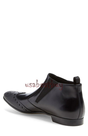 New Handmade Chukka Style Genuine Leather Chelsea Boots, Men real leather boots