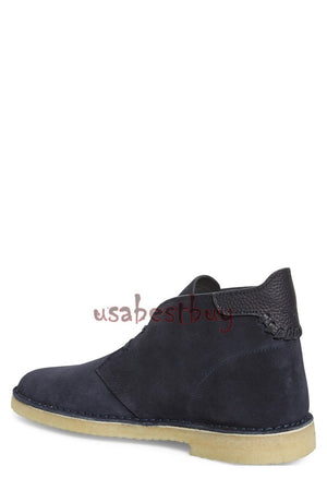 New Handmade Chukka Style Suede Leather Boots with Crepe Sole, Men leather boots