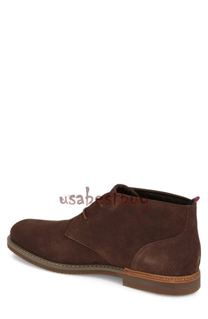 New Handmade Chukka Style Brown Suede Leather Boots, Men real leather boots