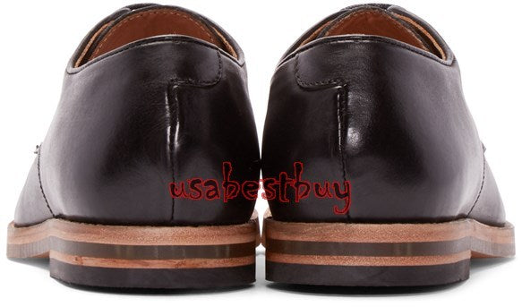 New Handmade Latest Style Men Pure Leather Shoes in Black Colour, Men shoes