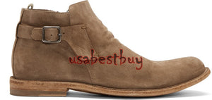 New Handmade Jodhpur Style Ankle Suede Leather Brown Boots, Boots for men