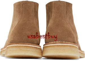 New Handmade Latest Chukka Style Brown Suede Leather Boots, Men leather boots