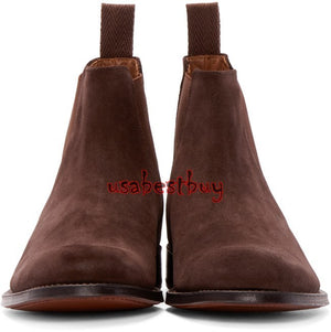 New Handmade Latest Style Dark Brown Leather Chelsea Boots, Men leather boots