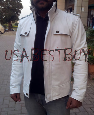 Handmade New Men Unique Fashion Superb Button Style Leather Jacket, Men jacket