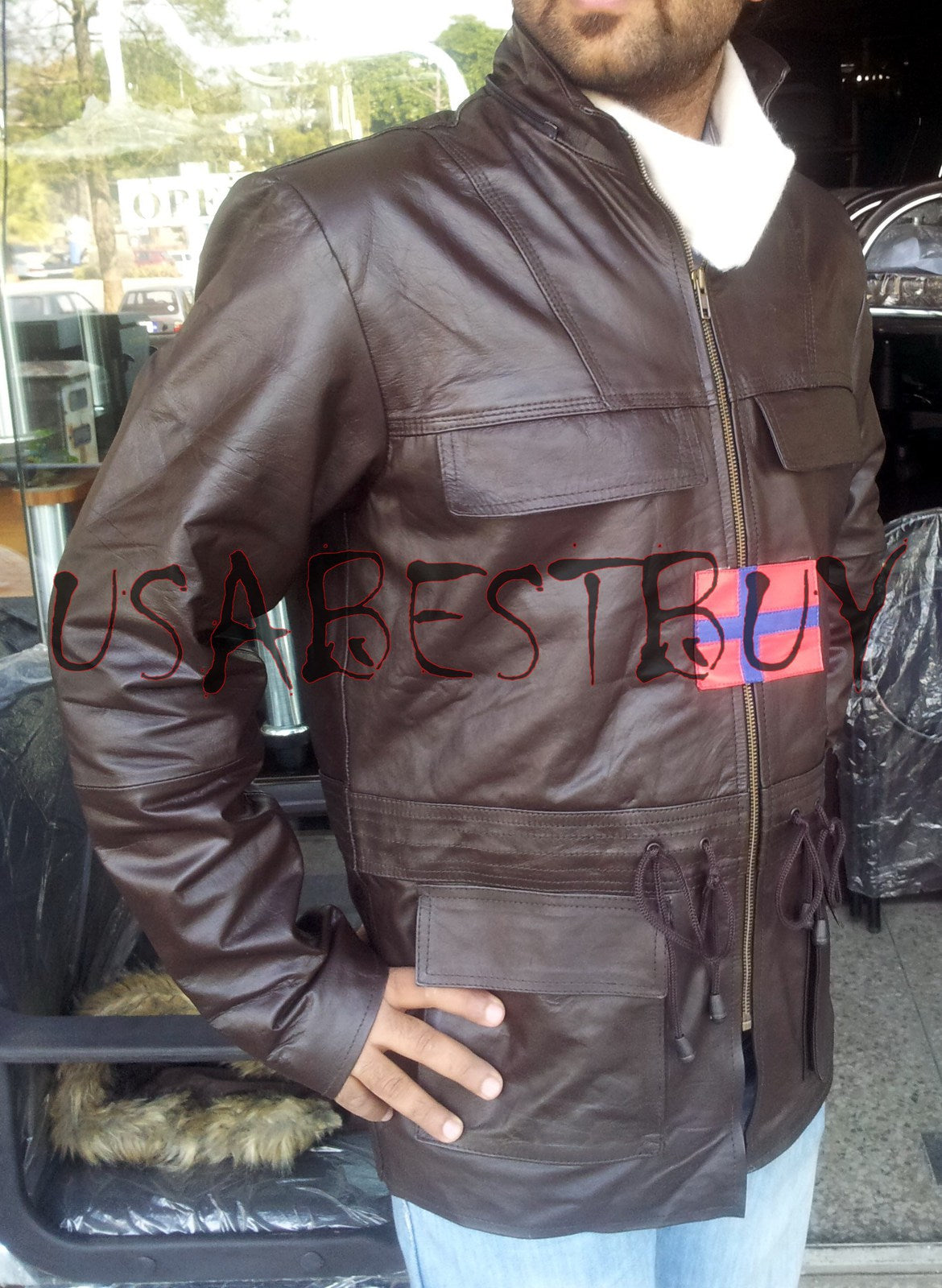 Handmade New Men Stylish Fur Hooded Latest Leather Jacket, Men Leather jacket