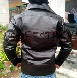 Handmade New Men Latest High Collar Unique Leather Jacket, Men leather jacket