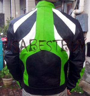 Custom Handmade Motorcycle Leather Jacket in Latest Style with Removable Pads in
