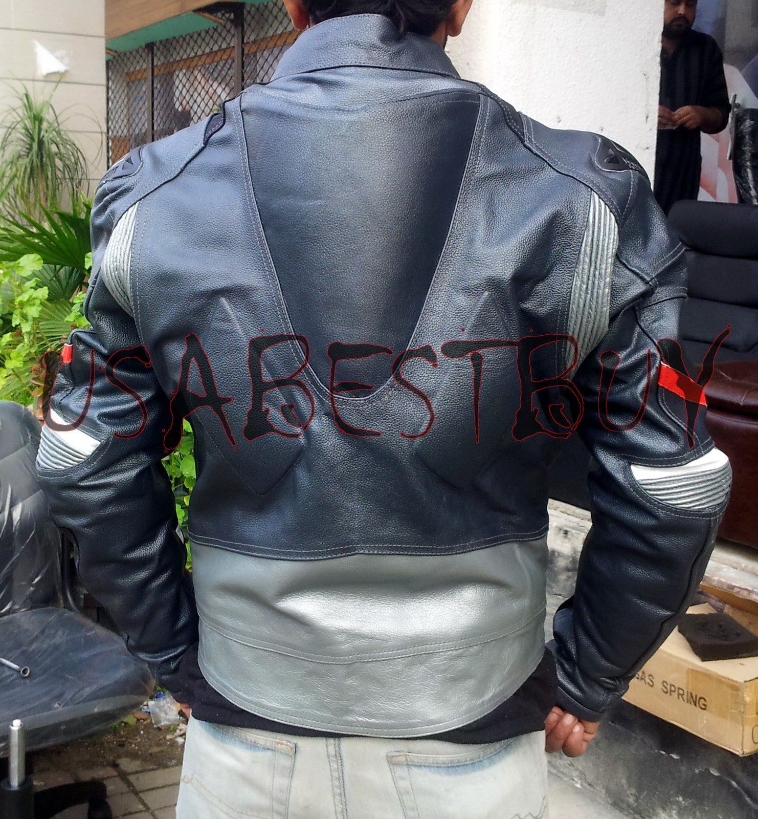 Custom Handmade Motorcycle Leather Jacket in Unique Latest Style with Pads