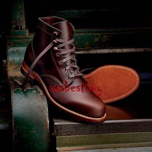 Custom Handmade Men Round Style Real Maroon Leather Ankle Boots, Leather boots