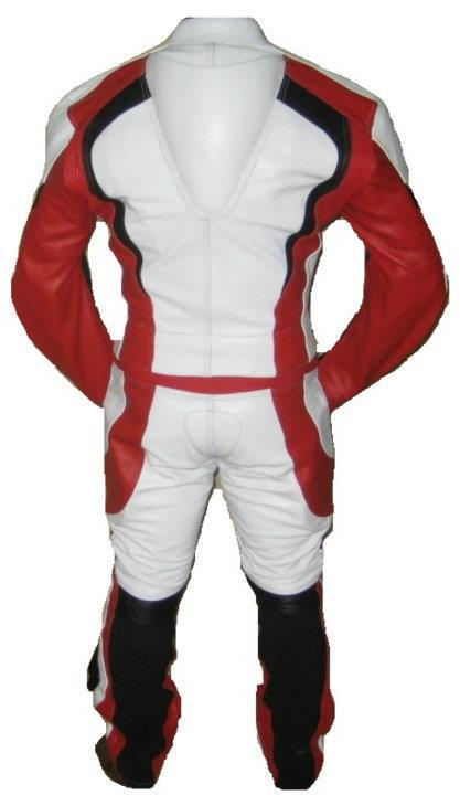 Custom Handmade Motorcycle Leather Suit in Stylish Superb Look Multicolor Padded