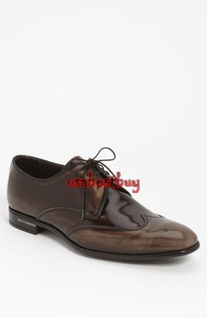 New Handmade New Style Brown Genuine Leather Shoes, Men leather Shoe