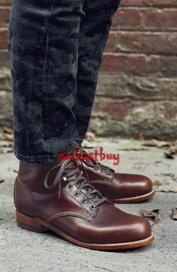 Custom Handmade Men Latest Style Real Maroon Leather Ankle Boots, Men boots
