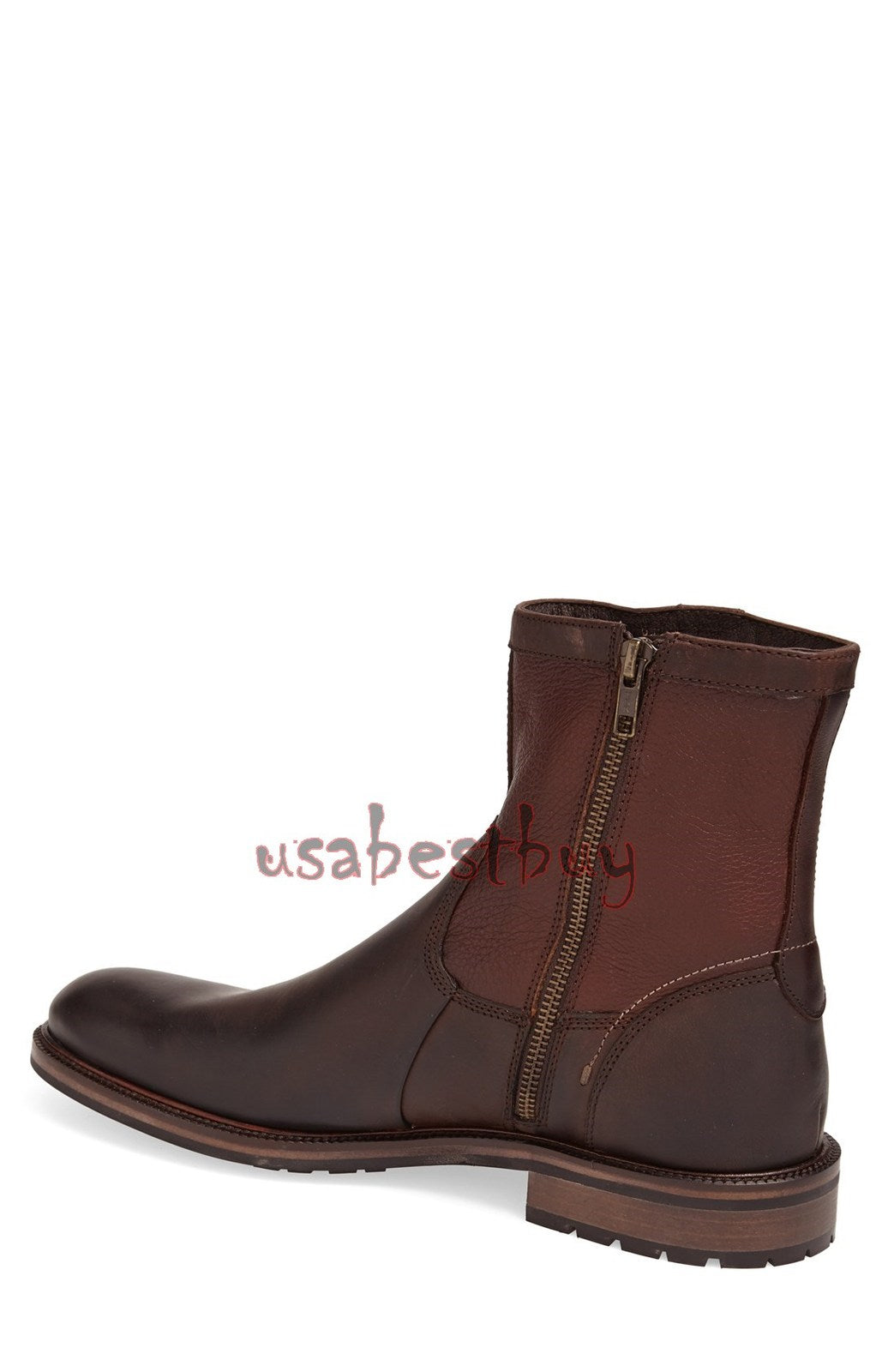New Handmade Simple Style Brown Leather Ankle Boots, Men Stylish leather boots