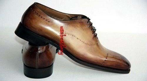 New Handmade Unique Style Brown Genuine Leather Shoes , Men leather Shoes