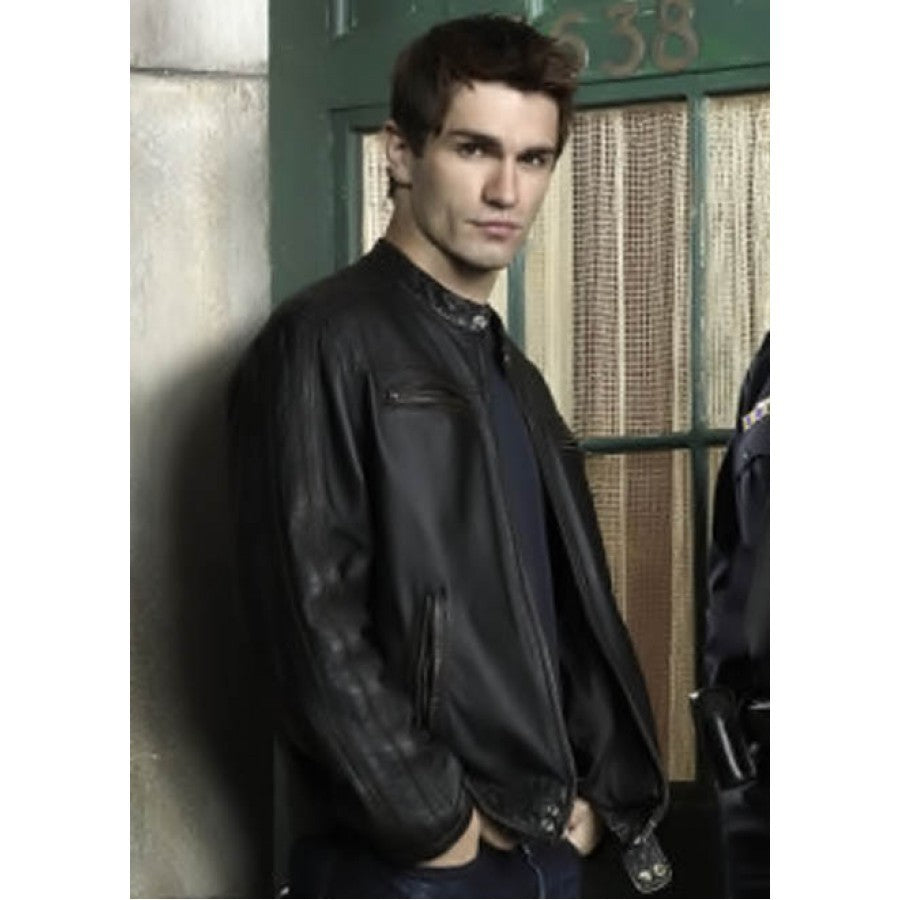 Custom Handmade Being Human Aidan Black Leather Jacket, Biker Leather Jacket men