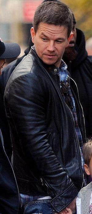 Handmade BROKEN CITY MARK WAHLBERG LEATHER JACKET, REAL LEATHER JACKET