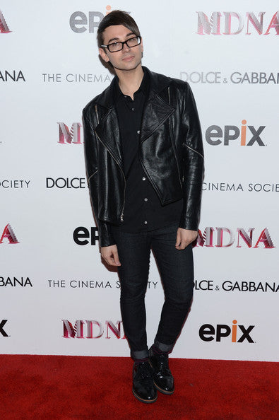 CHRISTIAN SIRIANO BLACK BIKER LEATHER JACKET, MEN FASHION JACKET