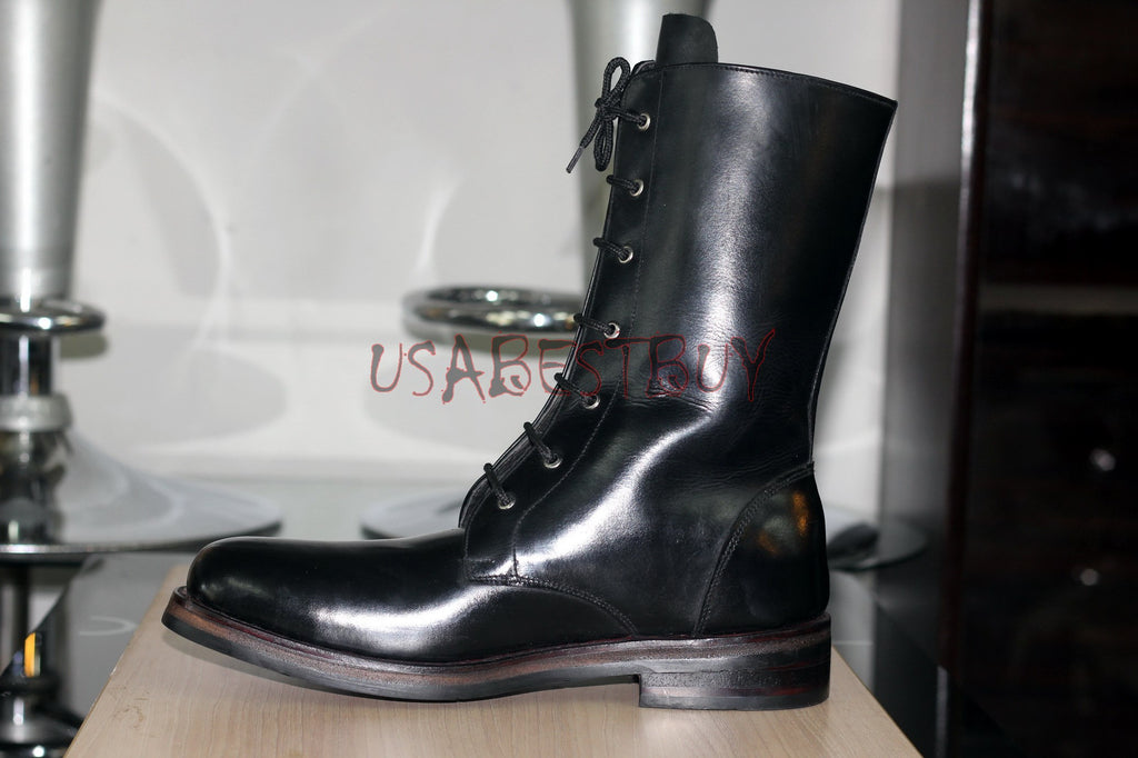 Custom Handmade Men Latest Military Style Combat Leather Boots