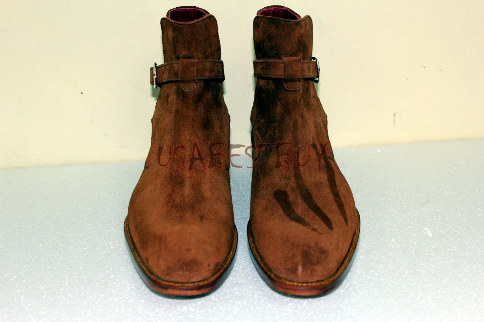 Custom Handmade Men Jodhpur Real Suede Ankle Boots, Men Real leather Boots