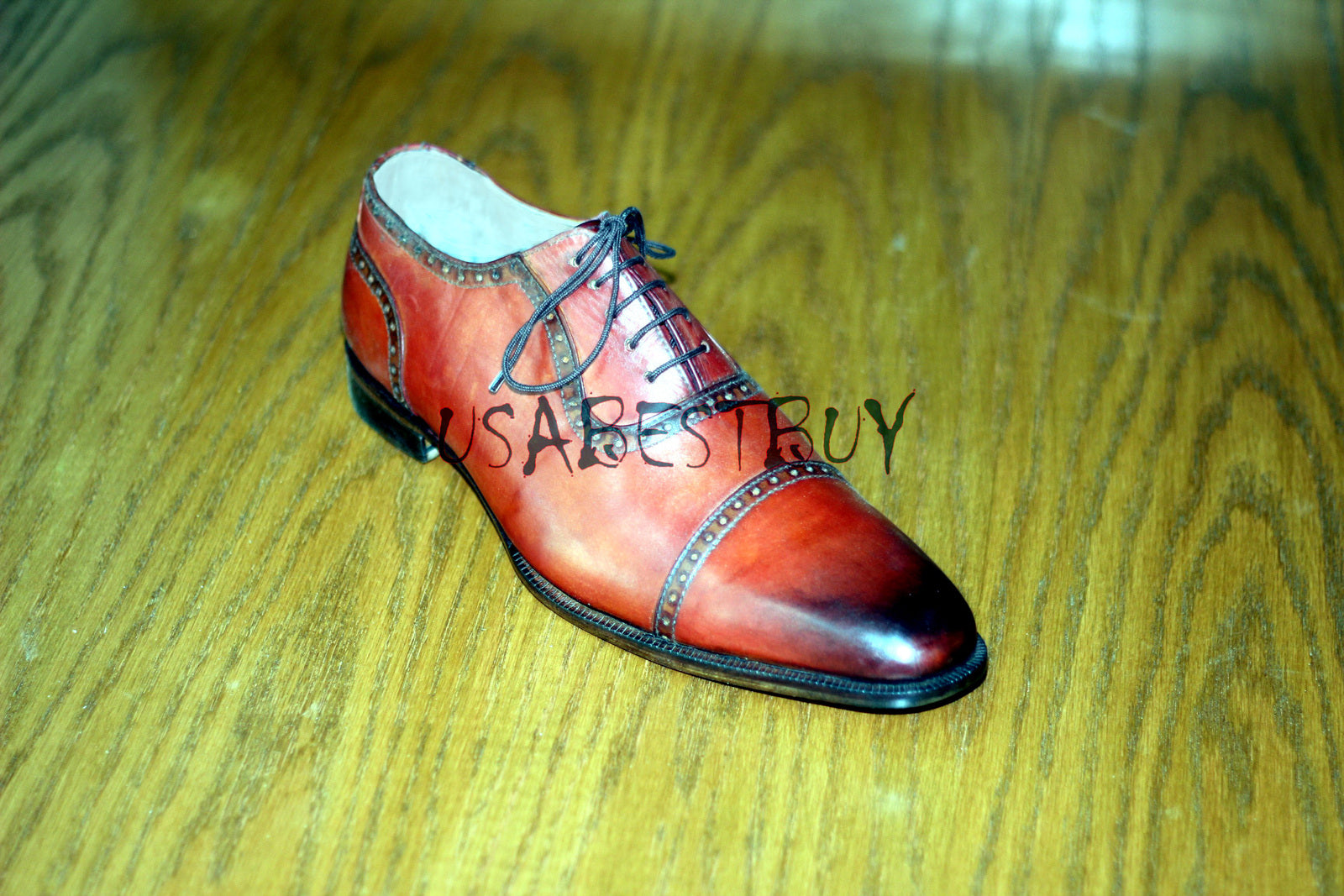 Custom Handmade Men Simple Shaded Real Leather Shoes, men formal shoes