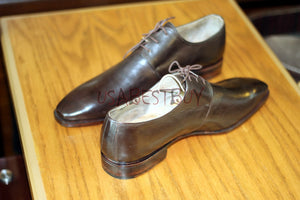Custom Handmade Men Latest Style Eyelets and Toe Leather Shoes, men formal shoes