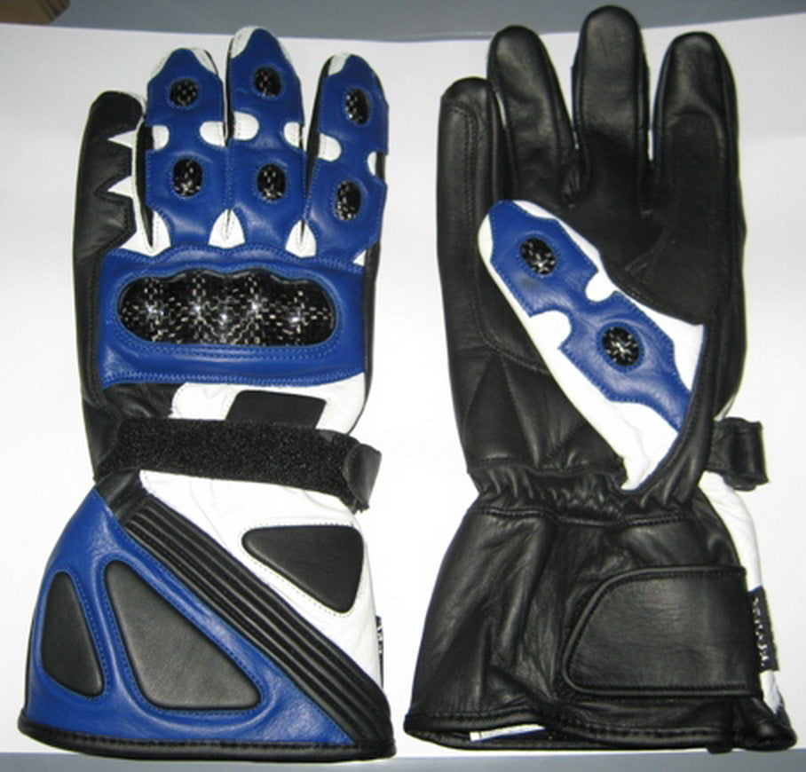 Custom Handmade Men Motorcycle Leather Gloves, Men Gloves, Biker Gloves Blue