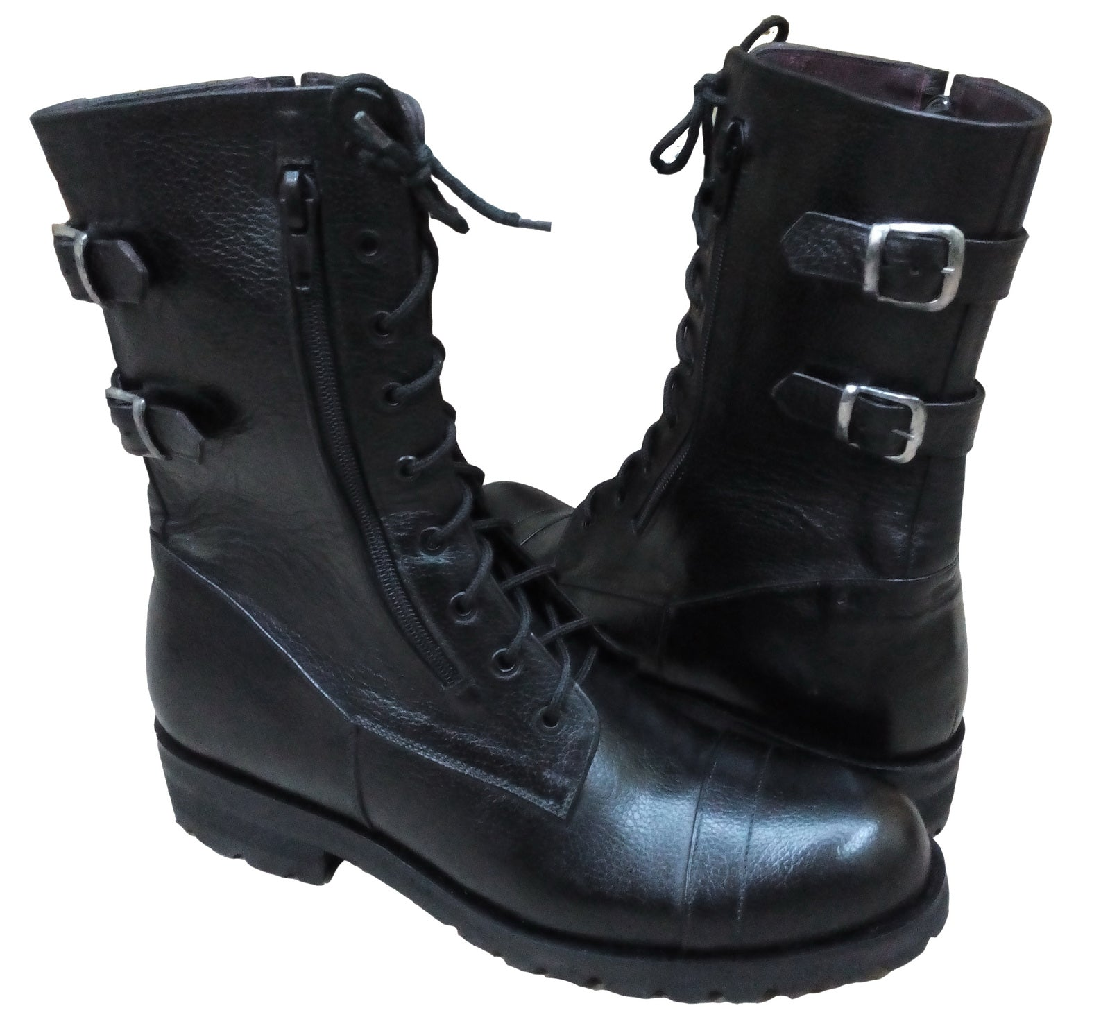 New Handmade Mens Military Style Superb Leather Boots with Tyre Sole, Army Boots