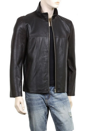 Handmade New Men Simple Decent Black Leather Jacket, Men Leather jacket