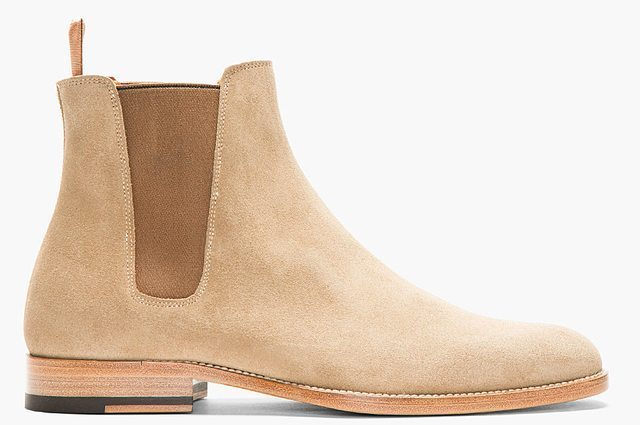 New Handmade Mens Classic Chelsea Suede Leather Boots