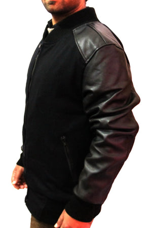 New Handmade Men Leather Sleeves Fabricated Superb Jacket, Leather jacket for me