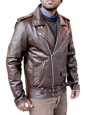 New Handmade Men Classic Brando Style Leather Jacket, Leather jacket for men