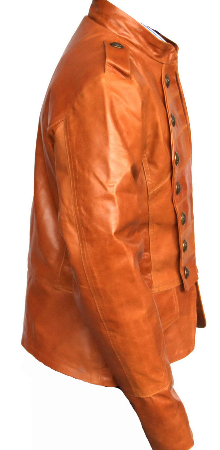 New Handmade Women Military Style Leather Jacket, Women leather jacket, Leather