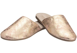 Gold Slip-on Closed Toe for ladies