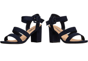 Strappy Block Heel Sandal for ladies in navy