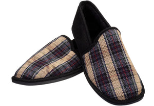 Check Closed Back Slipper for men