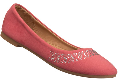 Diamante Pump in coral
