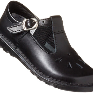 Infant Girls' T-Bar School Shoe - Black