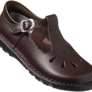 Infant Girls' T-Bar School Shoe - Brown