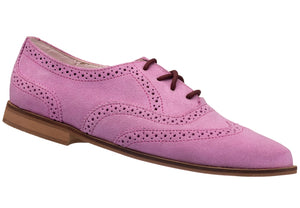 Pink Brogue Lace-up