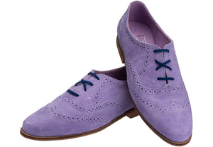 Lilac Brogue Lace-up