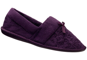 Aubergine Embroidered Velour