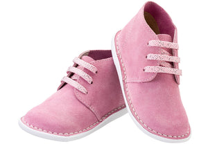 Light Pink Lace-up Vellie