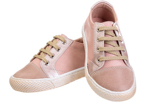 Infant Girls' Lace-up Sneaker - Peach