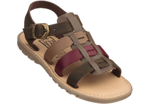 Boys' Leather & Suede Sandal - Argile