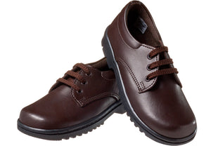 School shoe in Brown