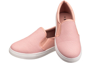 Slip-on Sneaker for ladies in pink