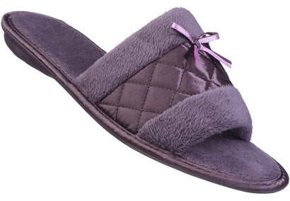 Mocha Satin Fibre slipper for ladies